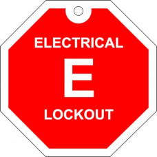 Electrical lockout tag.