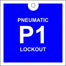 Pneumatic lockout tag.